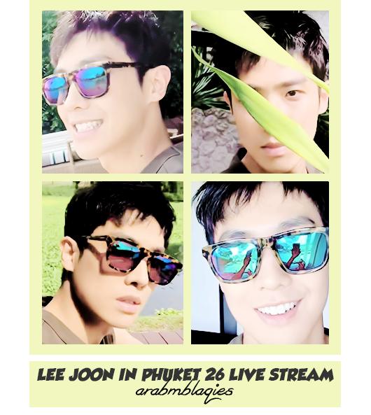 LeeJoon In Phuket 26 LIVE STREAM